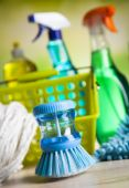 Cleaning Equipment for home work — Stock Photo