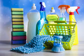 Group of assorted cleaning equipment — Stock Photo