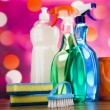 Постер, плакат: Cleaning products set