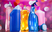 Cleaning supplies for home work — Stock Photo