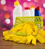 Variety of cleaning products — Stock Photo