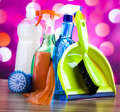 Group of Cleaning supplies — Stock Photo