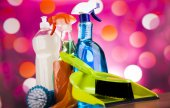 Group of Cleaning products — Stock Photo