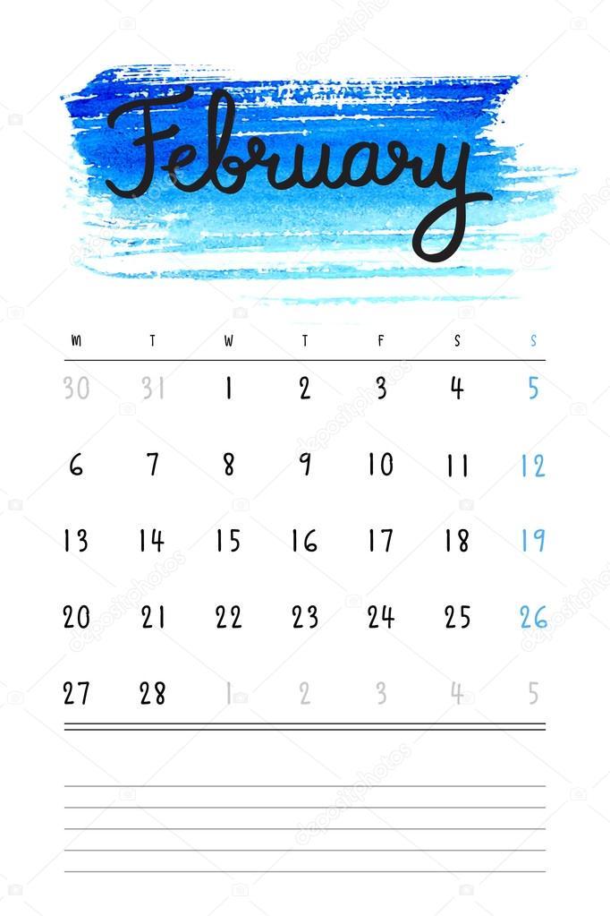 Vektor-Kalender 2017-Template