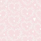 Vector hand drawn seamless pattern with wreathes and hearts Good for weddingeng and engagement invitations and valentines day cards. — Διανυσματικό Αρχείο
