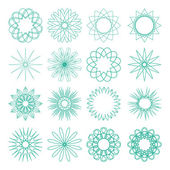 Set of different vector sixteen old-fashion patterns — Stock Vector