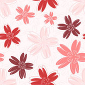 Seamless vector colorful pattern with different flowers — Stok Vektör