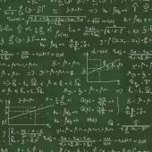 Школа бесшовные векторные каракули шаблон с различных математических формул — Cтоковый вектор