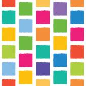 Vector seamless pattern with colorful squares with jagged edges. — Stock Vector