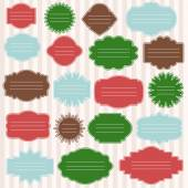 Vector set of gift tags for christmas presents. Different shaped — Stock Vector
