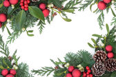 Red Bauble Border — Stock Photo