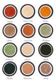 Health Food Powder Selection — Stock Photo