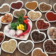 Herb and Spice Food Sampler — Stock Photo #66903277