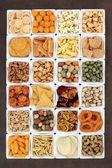Snack Food Sampler — Stock Photo