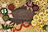 Pasta Food Ingredients — Stock Photo