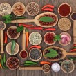 Herb and Spice Food Sampler — Stock Photo #74624355