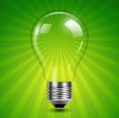 Background with light bulb  — Stockvektor