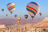 Balloons over Cappadocia. — Stock Photo