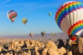 Balloons over Cappadocia. — Stock Photo