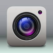 Ikona kamery foto — Stock vektor