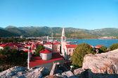 Red roofs of Budva in Montenegro, citadel  — Stock Photo