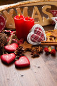 Vánoční dekorace na dřevo — Stock fotografie