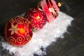 Decorações de natal na neve — Foto Stock