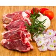 Cutlet of lamb with vegetables — Stock Photo #58168619