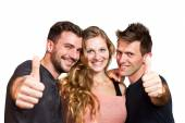 Feliz grupo de amigos isolado sobre o branco — Foto Stock