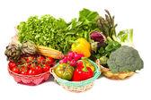 Fresh vegetable isolated on white background — Stock Photo