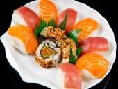 Fresh sushi traditional japanese food  — Stock Photo