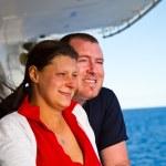 Couple Enjoying a Cruise Vacation — Stock Photo #63947031