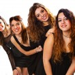 Group of girl friends isolated over a white background — Stock Photo #65209515