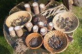 Plenty of slavic amulets  — Stock Photo