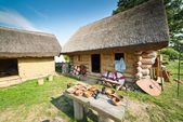 Old slavic village in Poland — Stock Photo