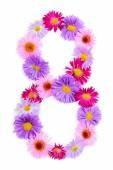 Alphabet fleur — Photo