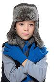 Niño invierno — Foto de Stock