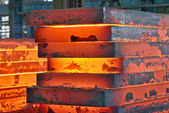 Stack of steel plate — Stock Photo
