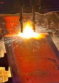 газовая резка горячего металла — Стоковое фото
