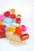 Many colorful pills — Stock Photo