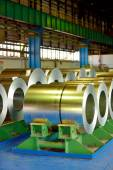 Rolls of steel plate — Stock Photo