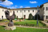 Rural patio italiano — Foto de Stock