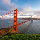 Golden Gate Bridge Sunset Scene — Stock Photo