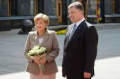 President of Ukraine Petro Poroshenko and Federal Chancellor of  — Stock Photo