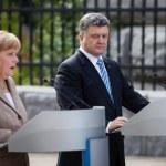������, ������: President of Ukraine Petro Poroshenko and Federal Chancellor of