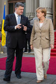 President of Ukraine Petro Poroshenko and Federal Chancellor of  — Стоковое фото