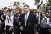 President of Ukraine Petro Poroshenko during the celebration of  — Stock Photo