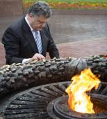 President of Ukraine Petro Poroshenko during the celebration of  — Stock Photo