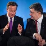 ������, ������: Petro Poroshenko and David Cameron during a meeting at the NATO