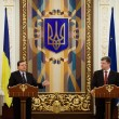 Постер, плакат: President of Ukraine Petro Poroshenko and European Commission Pr